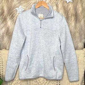 Thread & Supply Fleece Sweater Pullover - Grey
